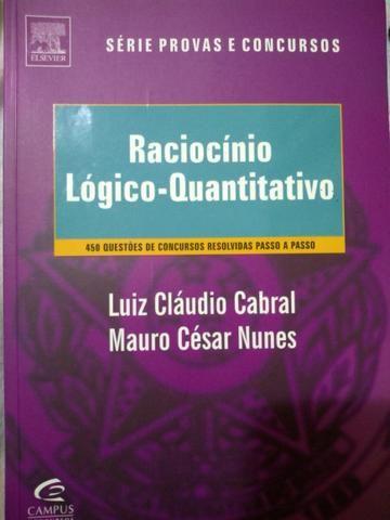 Livro - Raciocínio lógico quantitativo