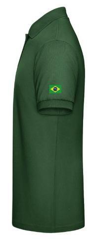 9187676187 Camisa Polo Masculina para Radioamador com Bordado Indicativo + Nome +  Manga com Bandeira