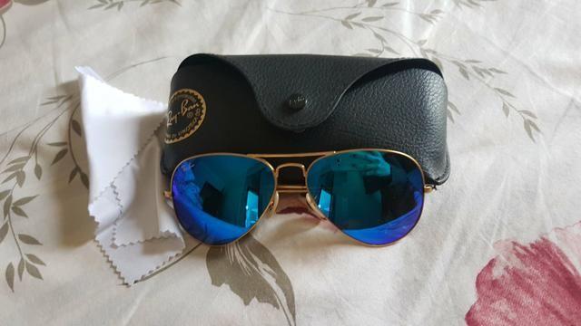 26c18aa11 Óculos ray ban aviador azul espelhado original - Bijouterias ...