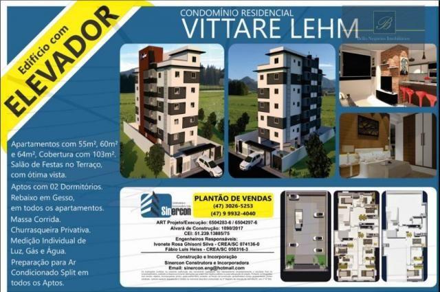Apartamento com 2 dormitórios à venda, 55 m² por R$ 182.524 - Santa Catarina - Joinville/S - Foto 9