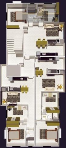 Apartamento com 2 dormitórios à venda, 55 m² por R$ 182.524 - Santa Catarina - Joinville/S - Foto 5