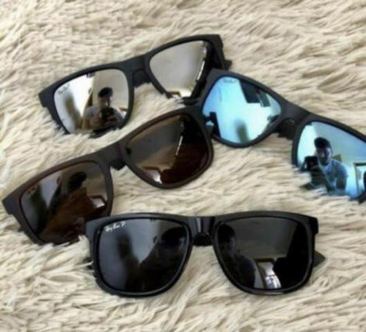 b9d8385bea8eb PREÇO IMPERDÍVEL! Óculos de Sol Ray Ban Justin Polarizado! 100 ...