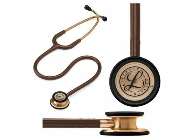 Estetoscópio littimann Classic 3 acedeção especial cor preto e chocolate - Foto 3