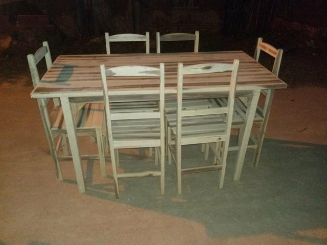 Conjunto de mesas c/ cadeiras - Foto 5