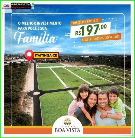Loteamento Boa Vista, sua moradia, próximo a Fortaleza.R$ 197,00 - Foto 15