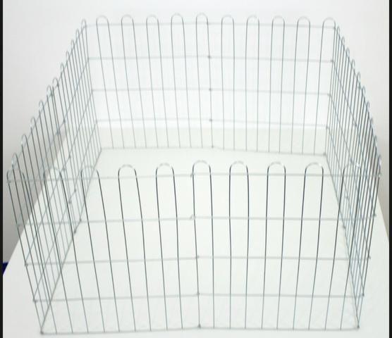 Cercado Pet Para Cachorros Cães Coelhos Gatos 10 Lados Altura 60 cm Cromado - Foto 3