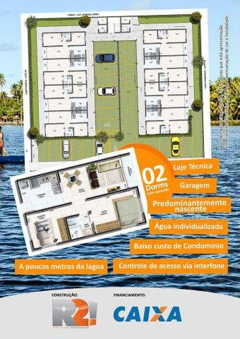 Apartamento 02 quartos, nascente na Barra Nova com Varanda