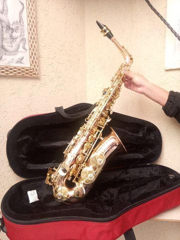 Imperdível, para levar ja...saxofone + kit completo de acessórios