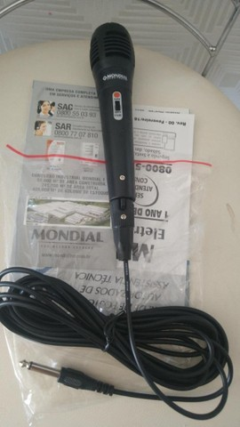 Microfone mondial original novo na embalagem