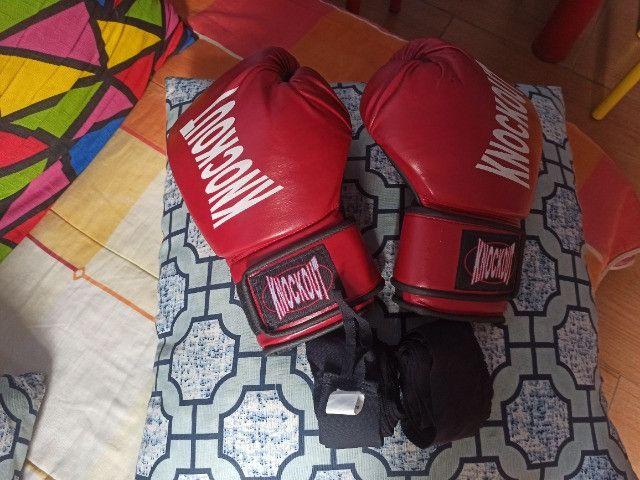 Luvas de boxe Knockout vermelhas - Foto 3