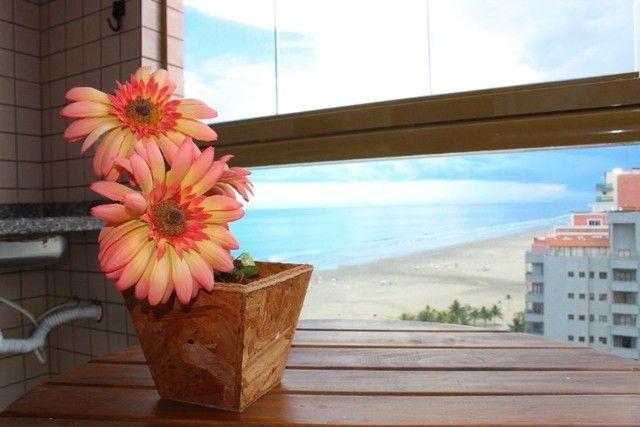 A008 - Apartamento frente mar com sacada gourmet - Foto 2