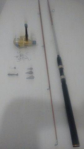 Kit completo vara de pesca linha Morinete e brinde - Foto 3