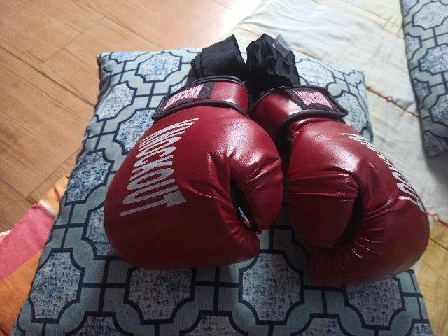 Luvas de boxe Knockout vermelhas - Foto 2