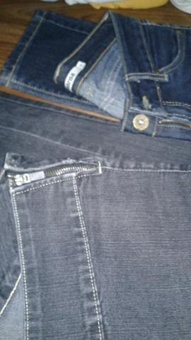 Calça jeans para meia estação ou usar com botas 1 N°40 e 1 N°38