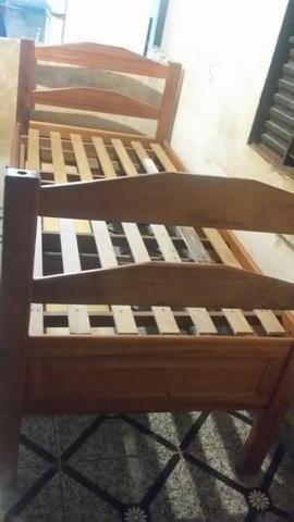 Cama de solteiro Madeira maciça com gavetas