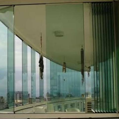 Cortina de vidro ou envidraçamento de sacada - Foto 5