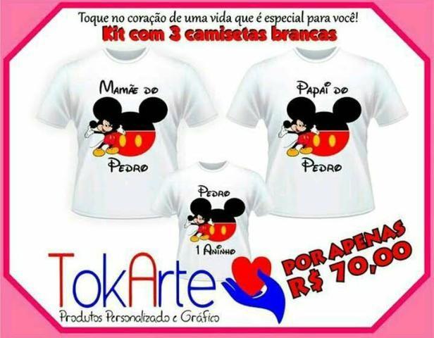 253e77abf3 Kit 3 camisetas brancas personalizadas - Serviços - Ipê