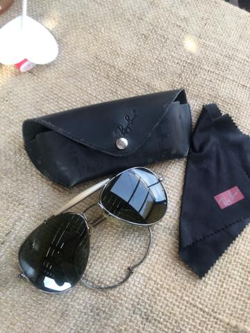 73b6df251825d Óculos De Sol Ray Ban Aviador - Vintage - Bijouterias