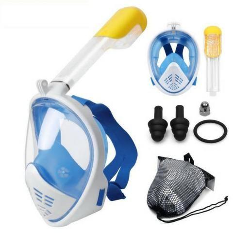 7bcb7b3c3 Snorkel - Snorkel Easybreath Mascara Mergulho Preta Azul Fullface suporte  Gopro