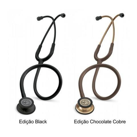 Estetoscópio littimann Classic 3 acedeção especial cor preto e chocolate
