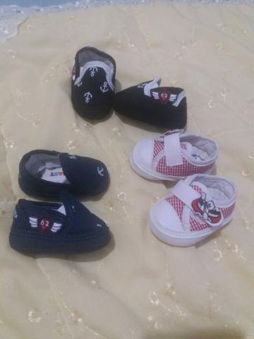 1 bolsa média maternidade (menino) 3 pares de sapatinhos
