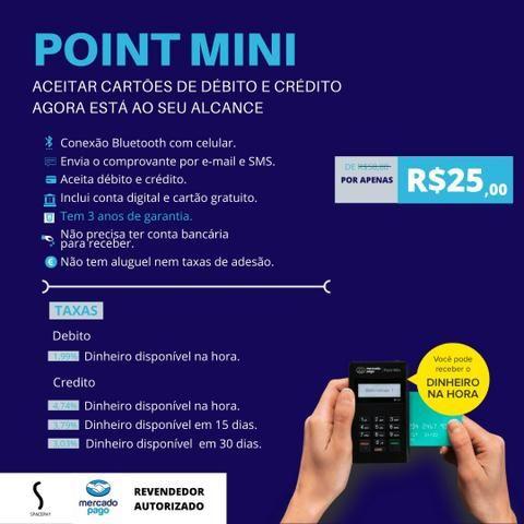 Point Mini maquininha de cartão - Foto 2