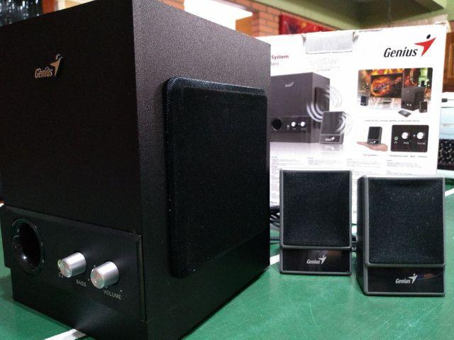 Sistema de som p/ computador e outros (usada/ótimo estado) - Foto 6