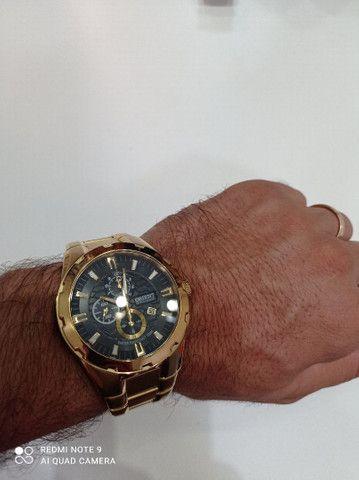 Relógio Orient novinho banhado a ouro  - Foto 6