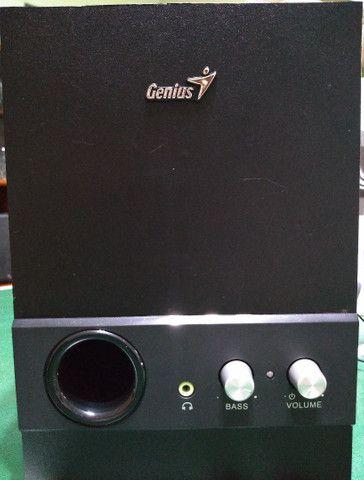 Sistema de som p/ computador e outros (usada/ótimo estado) - Foto 4