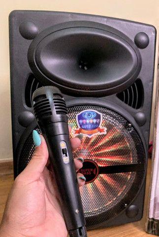 Caixa de Som Super Bass 2000w de Potência Bluetooth Microfone e Controle! - Foto 2