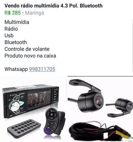 Rádio multimídia 4.3 Pol. Bluetooth