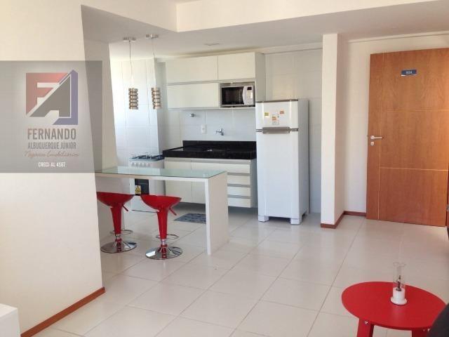 Quarto e sala na Ponta Verde, Nascente, Mobiliado, com Máquina de lavar, lazer completo