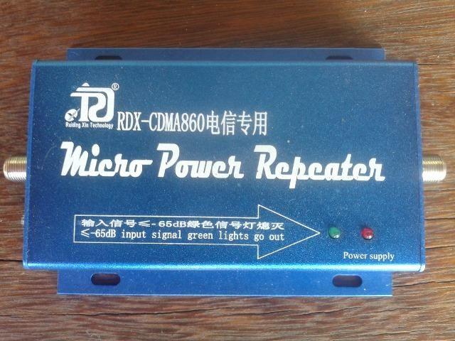 Kit Completo Mini Repetidor De Sinal Celular 850 Mhz 60 Db Cabo 15 Metros