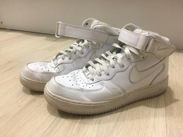 Nike Air Force 1 Mid 07 Masculino Branco Tamanho 40 - Muito Novo