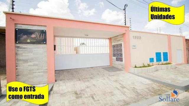 VE. Potira \ Apartamento 02 quartos pronto para financiar pela Caixa com ônibus na porta