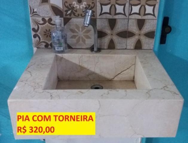 Pia com torneira marmore/granito R$ 320,00
