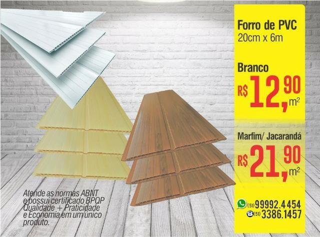 Forro de PVC 20cm - Branco/ Marfim / Jacarandá
