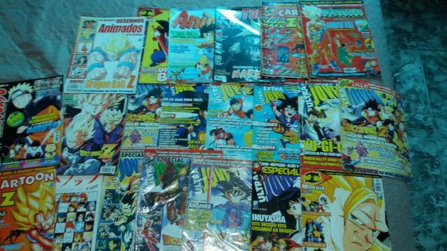 21 Revistas Dragon Ball Naruto Yu Gi Oh