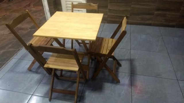 Mesas rústica de madeira 350 reais o jogo