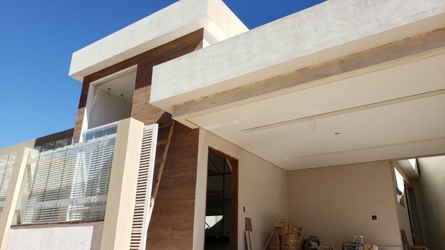 Casa Nova 3suites churrasqueira rua 5 Vicente Pires condomínio fechado - Foto 3