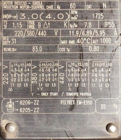 Motor eletrico Weg 4cv - Foto 2