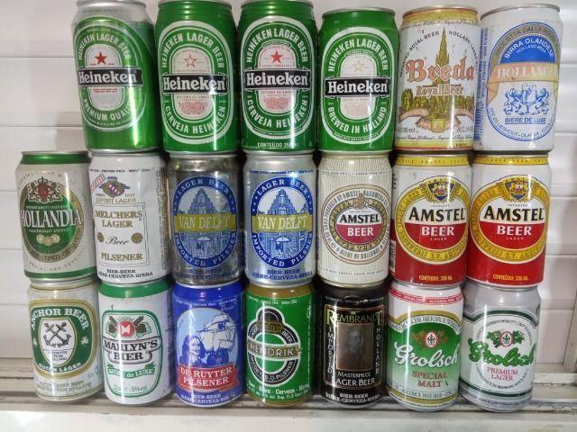 Lote Coleção de Latas Cervejas Importadas Holanda Anos 90 - Foto 6