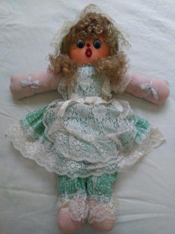 Boneca de Pano da década de 1980 - Foto 3