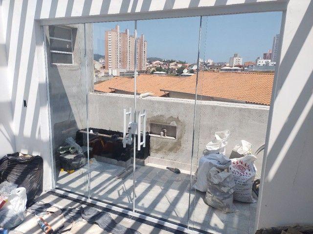 Porta balcão 2larg x2,10alt vidro temperado incolor de 8 mm