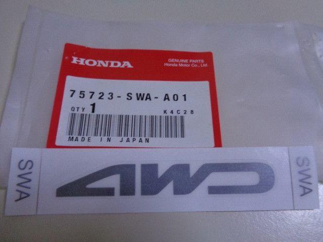Emblema Adesivo 4WD do HRV da tampa da mala - Peça nova original - Cód 75723SWAA01