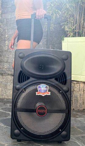 Caixa de Som Super Bass 2000w de Potência Bluetooth Microfone e Controle! - Foto 4