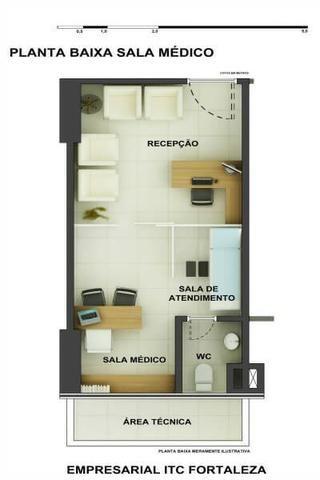 Sala Comercial 28,20m² com vaga no ITC Rio Mar - Foto 14