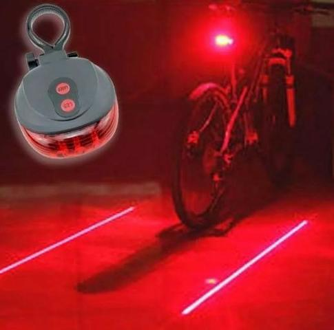 Lanterna Ciclovia Virtual 3 Leds e Laser