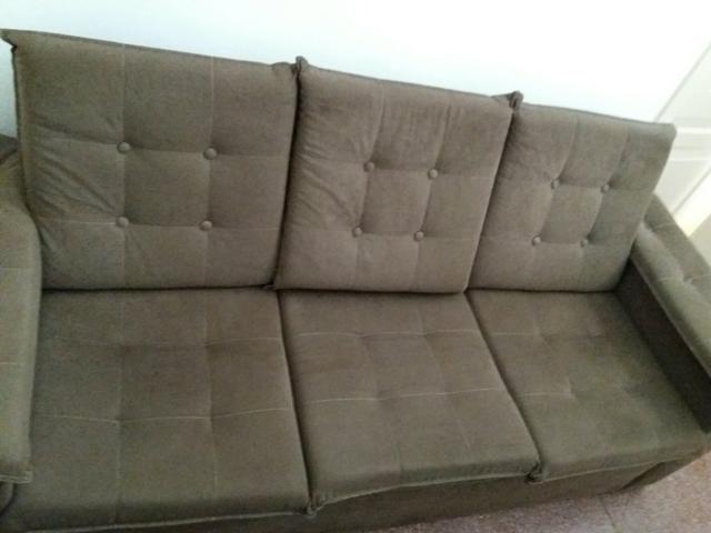 VENDO conjunto de sofá 2e 3 lugares em excelente estado 6 messes de uso 900.00