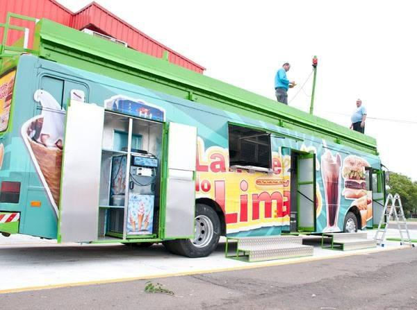 Food truck itinerante